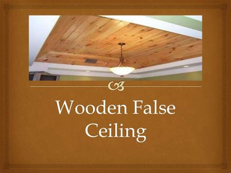 Wooden False Ceiling Wooden False Ciling