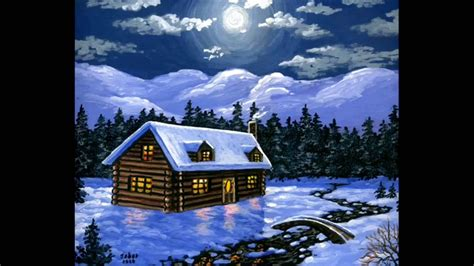 acrylic painting houses acrylic paint on canvas painting the house and snow