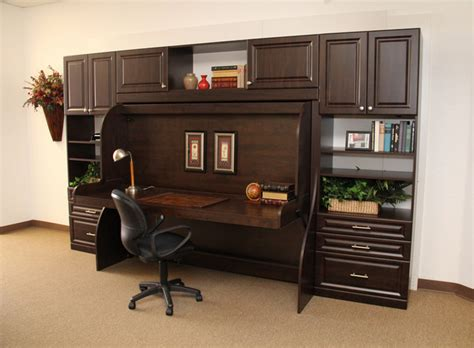 home office desk bed with a traditional look