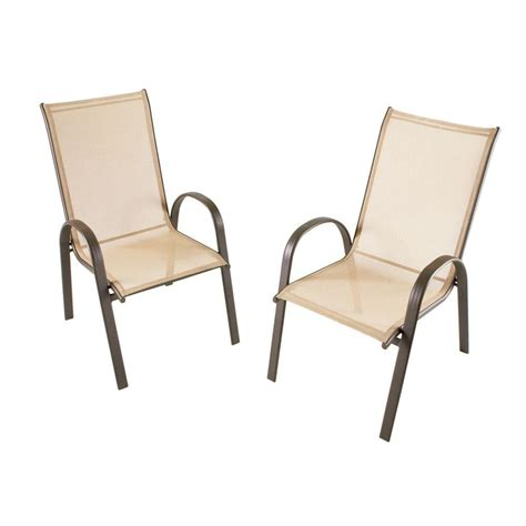stack sling patio chair stack collection patio sling chair 4 pack discontinued
