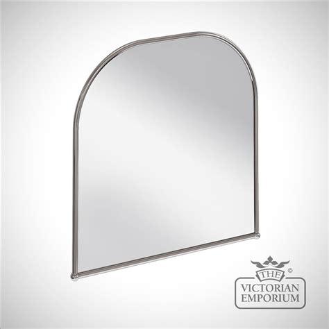 curved bathroom mirror simple curved bathroom mirror in chrome