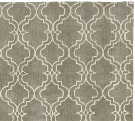 tile rug scroll tile rug gray pottery barn
