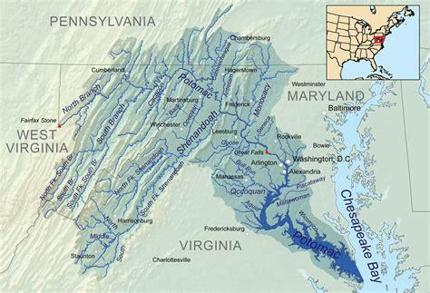 washington dc rivers map potomac river american rivers