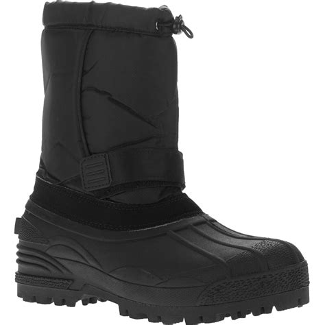 mens snow boots walmart mens krugge winter boot snow warm lined insulated