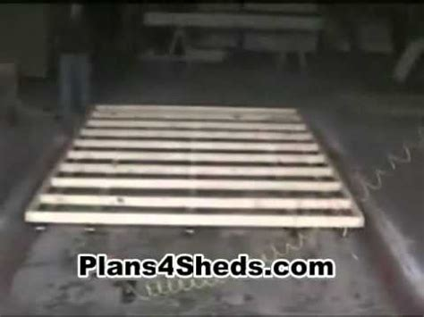 how to build floor how to build a shed floor youtube