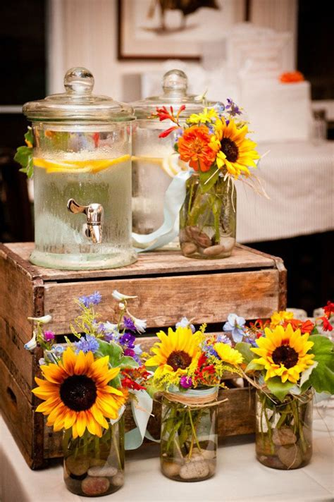 Coffee Table Flower Arrangements by 20 Great Ideas To Use Wooden Crates At Rustic Weddings