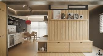 Small studio apartments with beautiful design