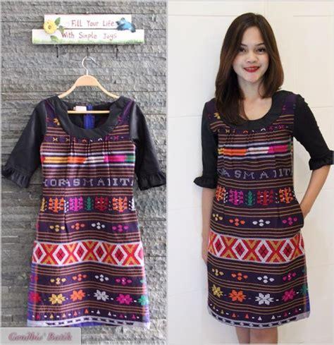 Dress Tenun Ikat Ethnic Tradisional 6 99 gambar kain batik motif batak dengan kain batik batak