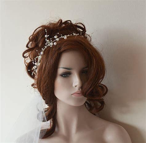 flower girl hair accessories wedding hair accessories wedding pearl headband pearl tie headband for weddings