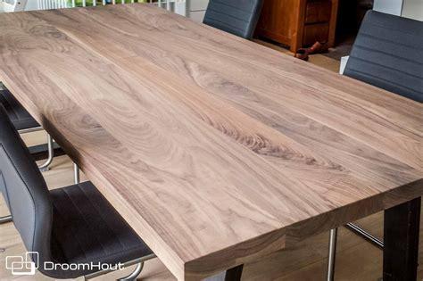 tafel notenhout droomhout noten tafelblad van massief hout