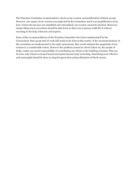 Essay On Black Money Wiki by Essay Black Money