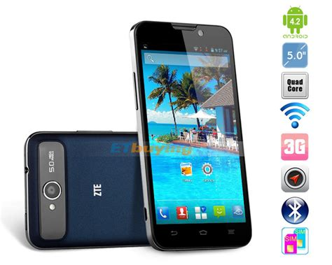 Zte Ram 1gb zte v967s android 4 2 mtk6589 1 2ghz dual sim 5 quot 1gb ram 4gb rom gsm
