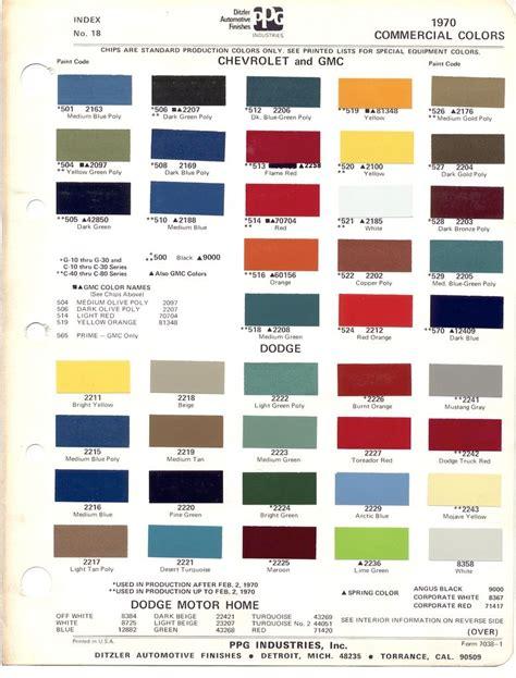 1970 chevrolet truck paint codes search vintage