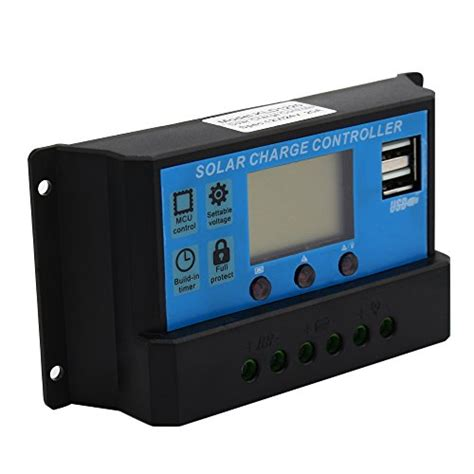 Regulator Monitor Lcd cozroom lcd solar panel adapter regulator intelligent 20a 12v 24v for environment monitoring