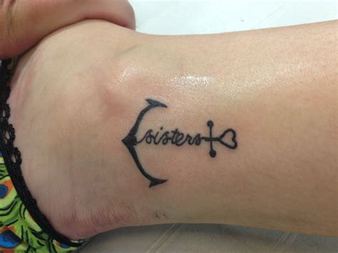 little sister tattoo our sisterhood will never sink cool
