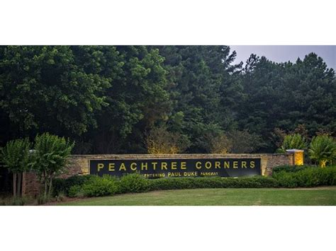 peachtree corners gateway sign gets new lighting