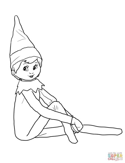girl elf on the shelf coloring pages printable