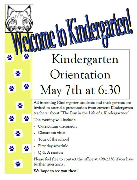 themes for college orientation may 7 kindergarten orientation 6 30 pm images frompo