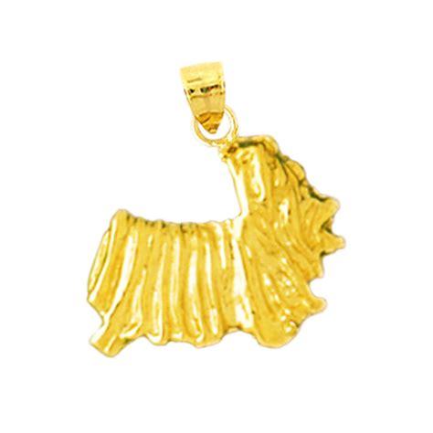 gold yorkie charm 14k gold yorkie charm