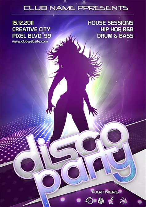 free photoshop flyer templates disco flyer template psd