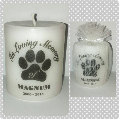 pet sympathy gift personalized memorial candle dog memorial