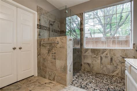 gorgeous walk in shower bathroom remodel dfw improved