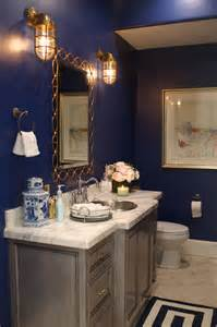 Navy Powder Room Pink Peonies By Rach Parcell A Personal Style Beauty