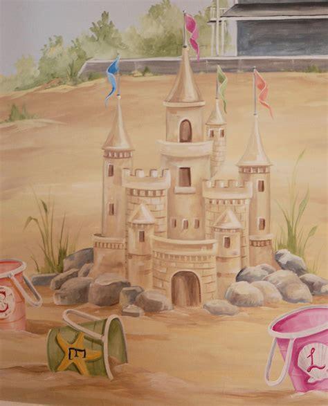 sand castle mural in children s room boston by macmurraydesigns