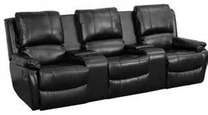 flash furniture black leather pillowtop 3 seat home