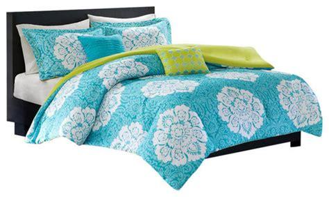mediterranean comforter sets tanya 5 piece polyester queen size comforter set