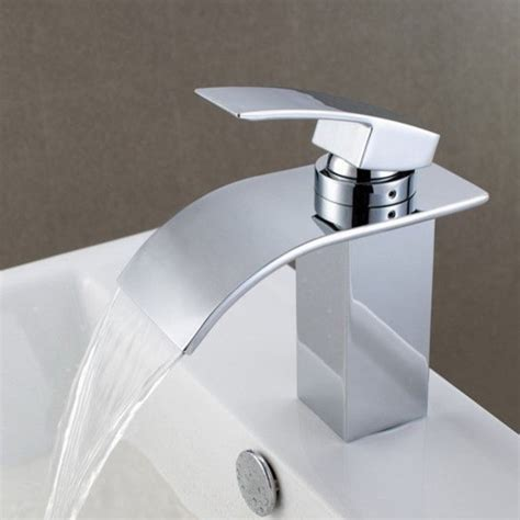bathroom sink and faucet contemporary waterfall bathroom sink faucet 8061