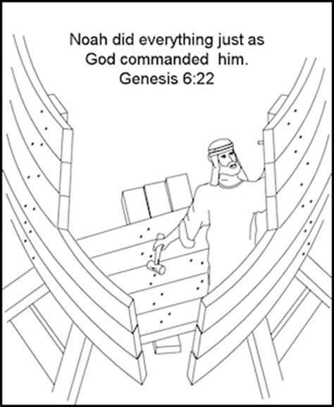 coloring pages noah s ark preschool noah builds the ark coloring page