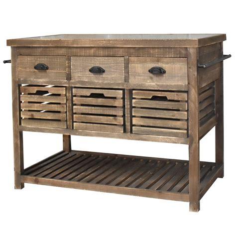 meuble billot cuisine meuble il 244 t central billot console bahut buffet table de