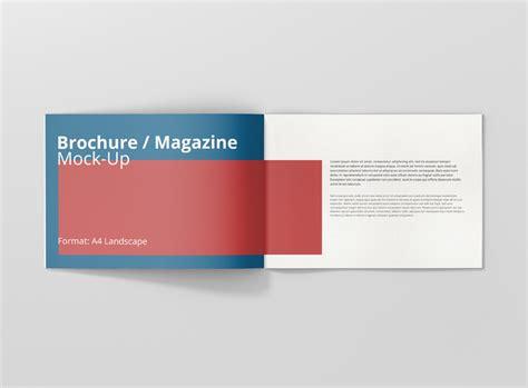 digital mock up design review a4 landscape brochure magazine mock up premium and