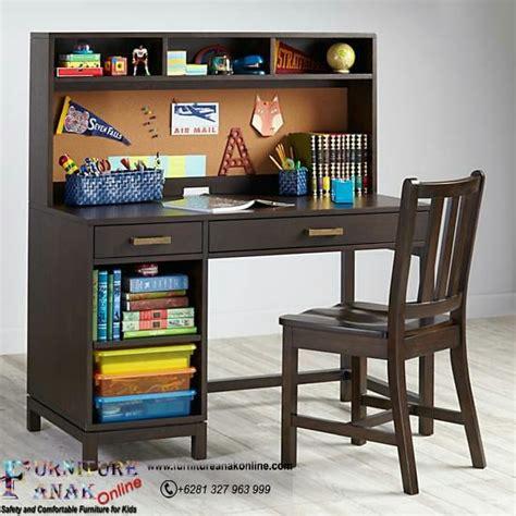Meja Belajar Dan Kursi Belajar meja belajar warna coklat furniture anak