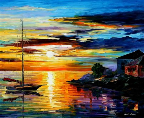 best painting sicily messina palette knife oil painting on canvas by