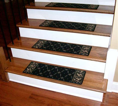 Washable Carpet Stair Treads   Trellis Black