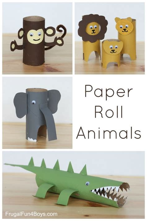 crafts with toilet paper rolls and paper towel rolls paper roll animals toilets towels and animais