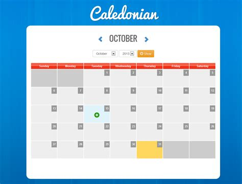 Calendrier Event Caledonian Php Event Calendar By Thunderfury Codecanyon