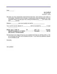 letter to increase rent template 2017 rent increase letter fillable printable pdf