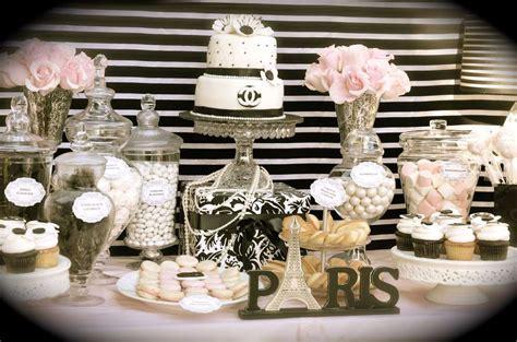 Sweet Sixteen Backyard Party Ideas Coco Chanel Parisian Birthday Party Ideas Photo 1 Of 13