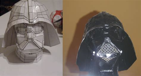 Darth Vader Mask Papercraft - darth vader papercrat painted by raiderdk on deviantart