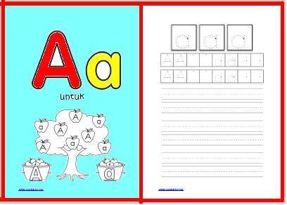 Buku Anak Paud Dan Tk Belajar Menulis Abjad Huruf worksheet belajar menulis abjad dan mewarnai gratis