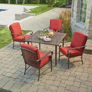 hton bay oak cliff 4 piece metal outdoor deep seating hton bay oak cliff 5 piece metal outdoor dining set