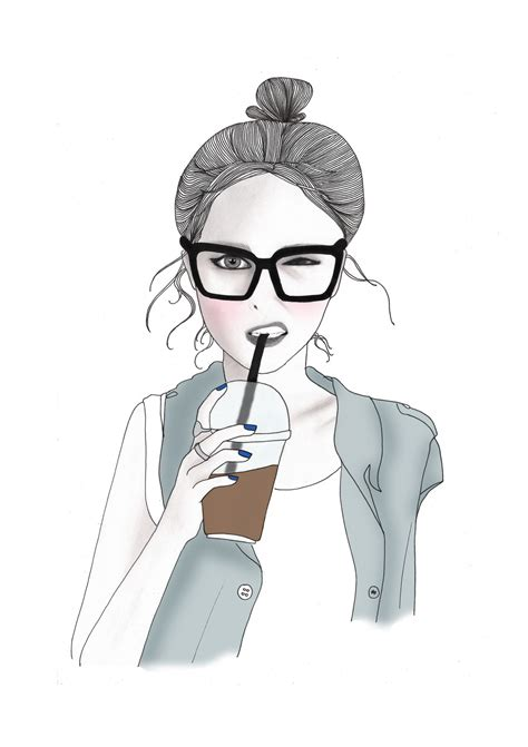 tumblr themes nerd cute girl drawing tumblr drawing sketch picture