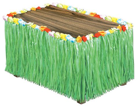 luau artificial green grass table skirting case pack 6