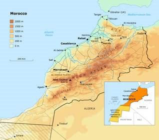 5 themes of geography morocco geography of morocco