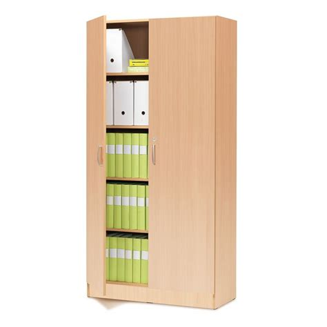 office cabinet with lock 2000x1000x310 mm beech