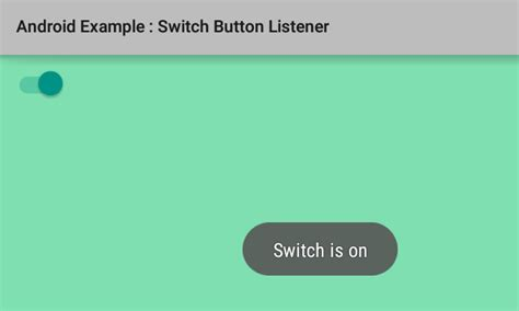 switch to android how to add listener for switch button in android