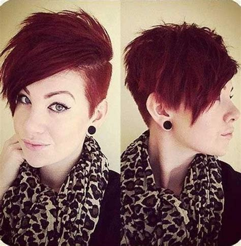 short hayles shorter on one side and spikey 2018 popular short hairstyles one side shaved